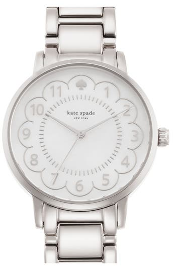 kate spade new york 'gramercy' scalloped dial bracelet watch, 34mm