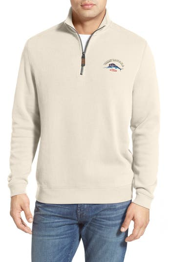 Tommy Bahama 'Classic Aruba' Original Fit Half Zip Sweater