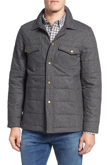Billy Reid Quilted Herringbone Shirt Jacket