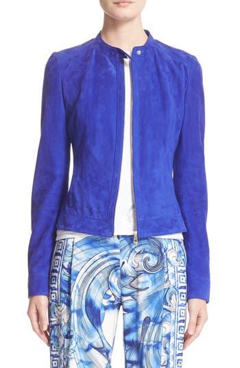 Versace Suede Moto Jacket