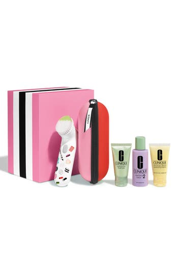 Clinique Sweet Sonic Cleansing System Collection for Very Dry to Dry Combination Skin Types (Limited Edition) ($124 Value)