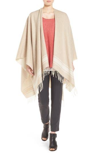 Eileen Fisher Wool Blend Serape Wrap