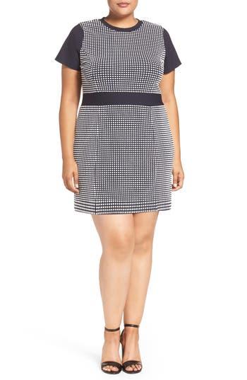 MICHAEL Michael Kors Gingham Jacquard A-Line Dress (Plus Size)