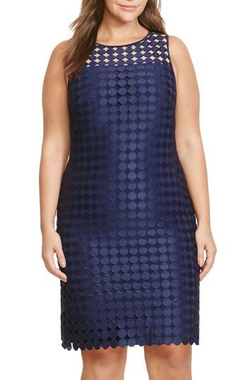 Lauren Ralph Lauren Mod Geometric Lace Sheath Dress (Plus Size)