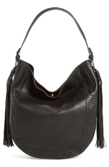 Phase 3 Tassel Faux Leather Hobo Bag