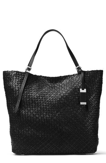 Michael Kors Large Hutton Woven Leather Tote