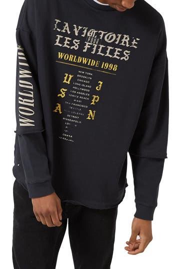 Topman Worldwide Print Sweatshirt