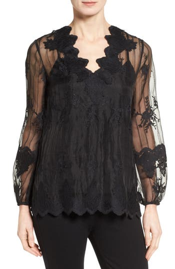 Kobi Halperin Westerlee Embroidered Lace Blouse