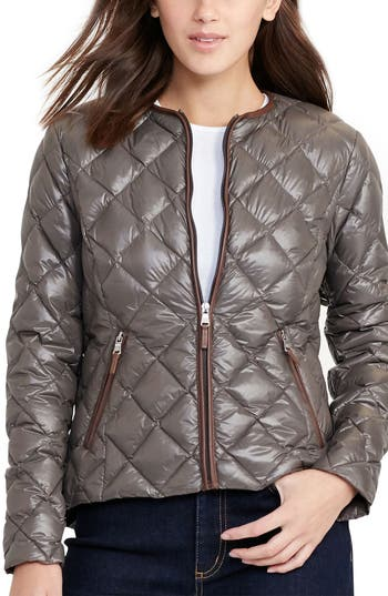 Lauren Ralph Lauren Quilted Collarless Down Jacket