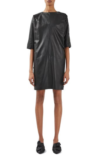 Topshop Boutique Snap Leather Dress