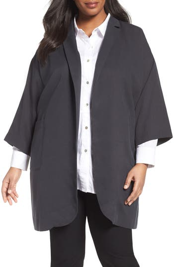 Eileen Fisher Long Tencel® Jacket (Plus Size)