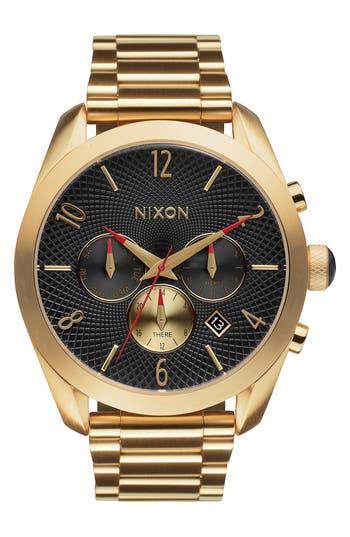 Nixon 'Bullet' Guilloche Chronograph Bracelet Watch, 42mm
