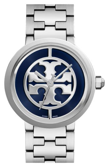 Tory Burch 'Reva' Logo Dial Bracelet Watch, 36mm
