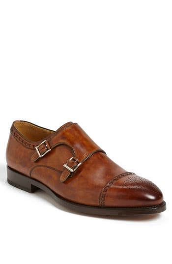 Magnanni 'Villar II' Double Monk Strap Shoe (Men)