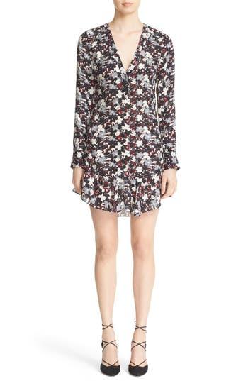 Veronica Beard 'Franklin' Floral Print Silk Dress