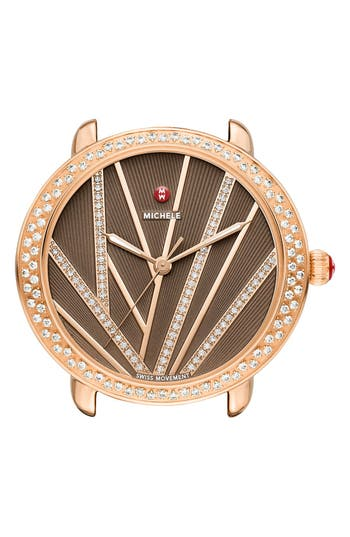 MICHELE Serein Mid City Lights Diamond Diamond Dial Watch Case, 36mm