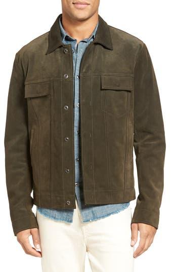 Vince Suede Trucker Jacket