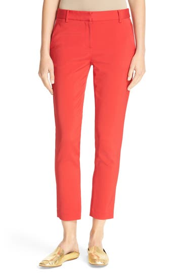 Tibi Beatle Slim Leg Crop Pants