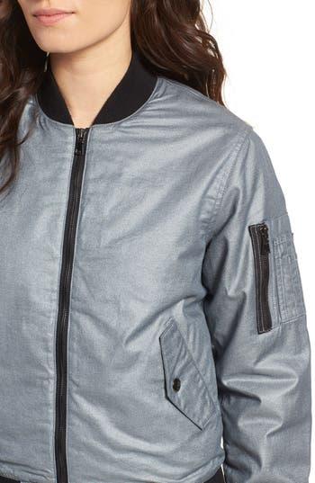 Hudson Jeans Gene Metallic Bomber Jacket