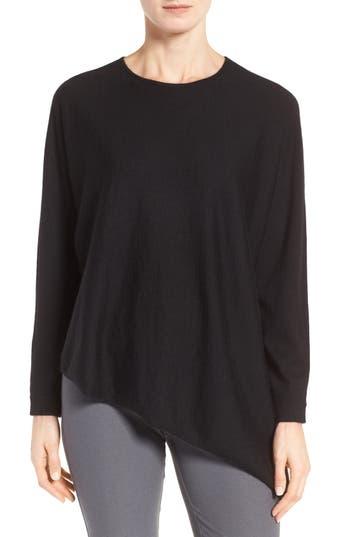 Eileen Fisher Asymmetrical Featherweight Cashmere Sweater (Regular & Petite)