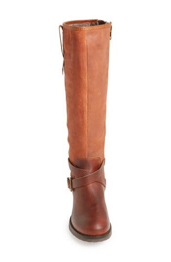 Bos. & Co. 'Sparks' Waterproof Suede & Leather Riding Boot (Women)