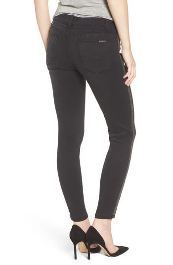 Hudson Jeans Luna Ankle Metallic Stripe Skinny Jeans (Valorous)