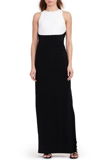 Lauren Ralph Lauren Column Gown (Regular & Petite)
