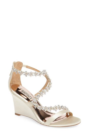 Badgley Mischka Bennet Embellished Wedge Sandal (Women)