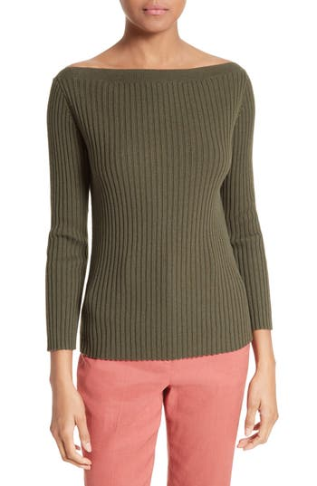 Theory Sandora Merino Wool & Cotton Sweater