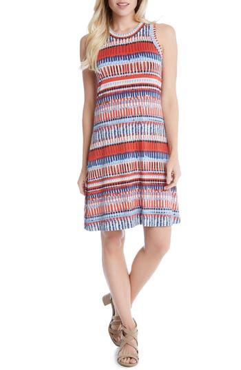 Karen Kane Painted Stripe A-Line Dress