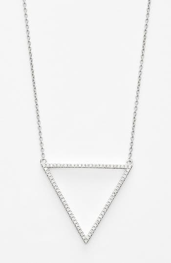 Bony Levy 'Prism' Diamond Triangle Pendant Necklace (Nordstrom Exclusive)