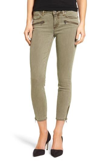 PAIGE Jane Zip Crop Skinny Jeans (Sahara Green)