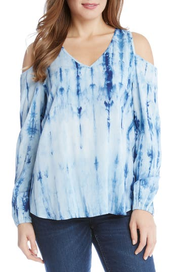 Karen Kane Cold Shoulder Tie-Dye Top