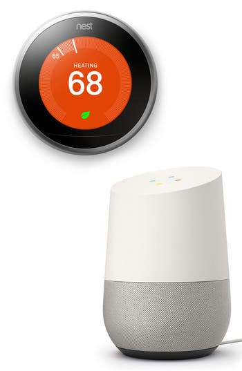 Google Home Voice Activated Speaker & Nest Thermostat