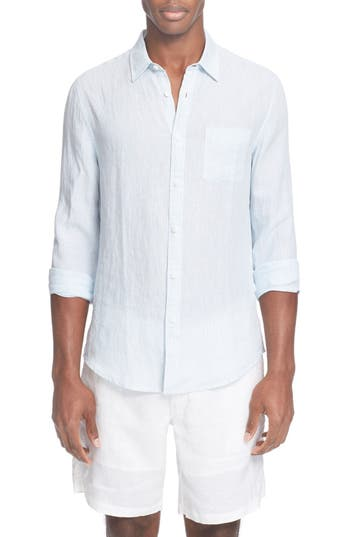 ONIA 'Abe' Trim Fit Stripe Linen Shirt