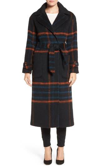 Trina Turk 'Margaret' Check Wrap Coat