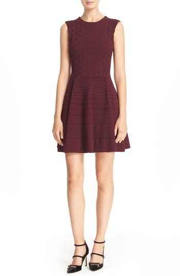 Ted Baker London 'Frinca' Mix Knit Skater Dress