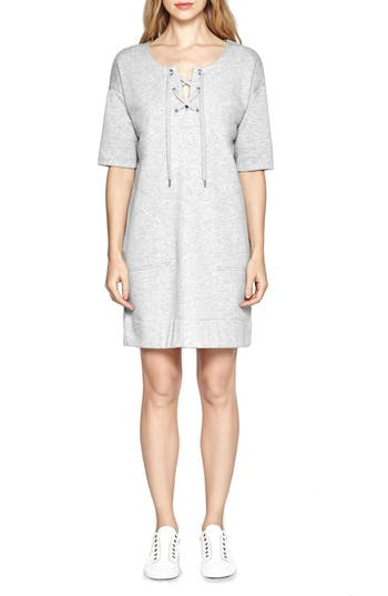 French Connection 'Jamie' Lace-Up Neck Shift Dress