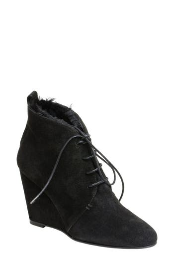 UKIES Maureen Genuine Shearling Lined Wedge Bootie (Women)