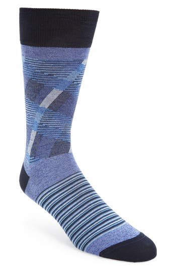 Bugatchi Stripe & Check Socks