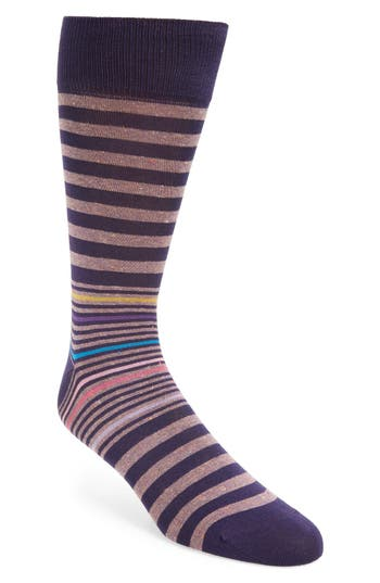 Bugatchi Donegal Stripe Socks