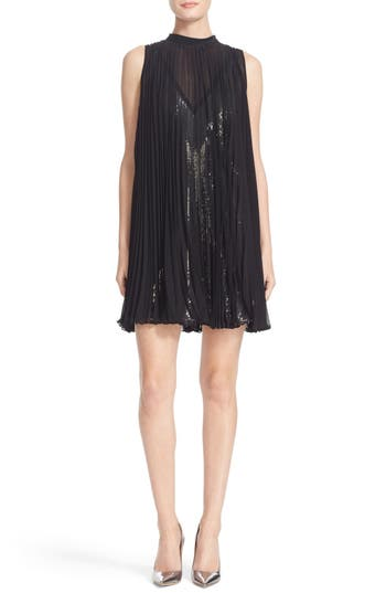 Tracy Reese Pleated Overlay Dress