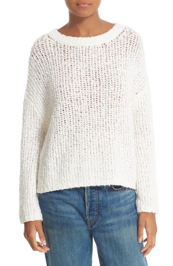 Vince Textured Merino Wool Blend Boxy Sweater