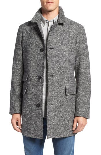 Billy Reid 'Astor' Three-Button Tweed Overcoat