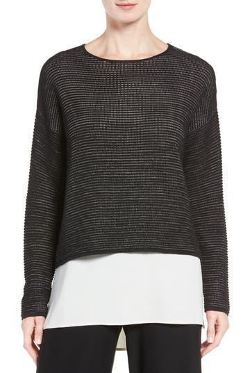Eileen Fisher Boxy Silk Blend Top (Regular & Petite)
