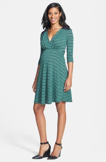 Maternal America Quilted Yoke Maternity Dress