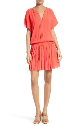 Joie Bryton Pleated Blouson Dress