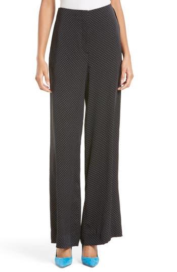 Diane von Furstenberg Wide Leg Stretch Silk Pants