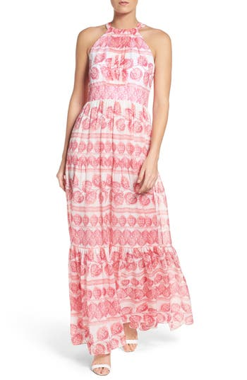 Eliza J Print Maxi Dress (Regular & Petite)