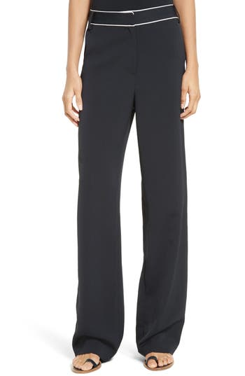 Tibi Draped Satin Twill Pants